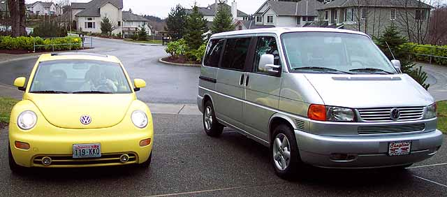 Our Volkswagens together.