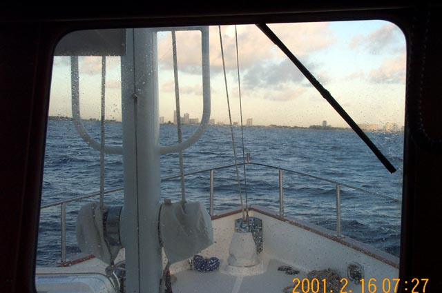 Fort Lauderdale from several miles offshore in the Atlantic Ocean