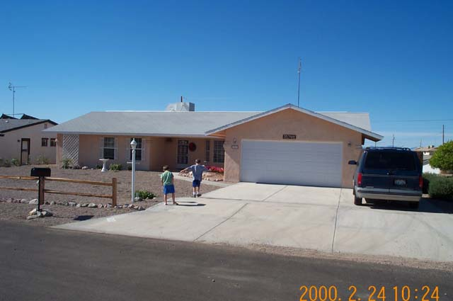 The home of Dolores Tobin in Lake Havasu City where we stayed a week.
