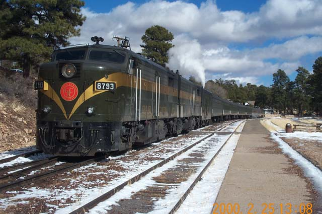 The Grand Canyon train that travels from Williams to the South Rim is led by Alco FAs.