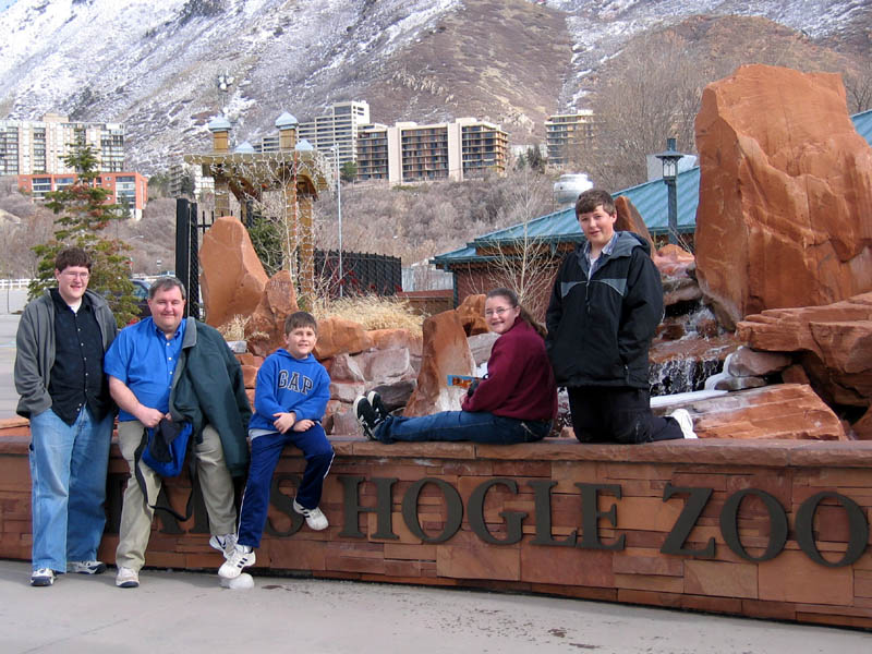 The family at Hogle Zoo