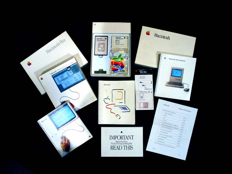 Box materials from early Macs.