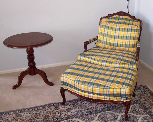 Yellow chair by Drexel Heritage