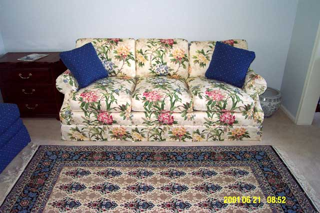 Dining/TV room couch by Drexel Heritage