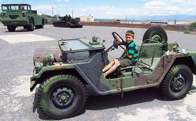 This Jeep was made by the AM General Company, i.e., the Hummer folks.