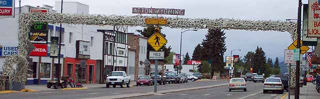 Afton is the big city of Star Valley, with 1818 people.